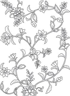 Clearance on quilt patterns and coloring books with very interesting quilt design ideas. Peacock Embroidery Designs, Border Embroidery Designs, Hand Embroidery Patterns, Textile Patterns, Floral Patterns, Islamic Art Pattern, Pattern Art, Oriental Flowers, Mandala Art Lesson