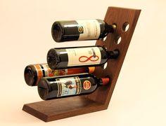 Wine Rack- Solid Walnut Wine Display