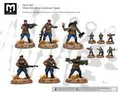 Client commission: Dust 194728mm Red Army Commissar Squad Grey Knights, Painting Services, Red Army, Warhammer 40k, Squad, Battle, Sci Fi, Miniatures, Action