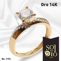Anillo de Compromiso gold 14k disponible en zirconia o diamantes . #anillos #anillosdecompromiso #solitarios