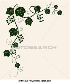 Stock Illustration - Beautiful grape vine.. Fotosearch - Search EPS Clip Art, Drawings, Wall Murals, Illustrations, and Vector Graphics Images