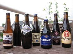 De zeven trappisten. --- The seven Trappist beers.