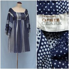 Vintage Ossie Clark dress 1960s / 1970s by VintageGreenClothing