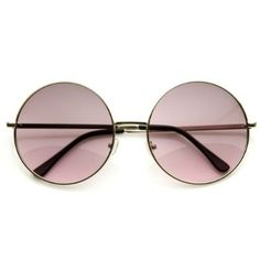 62741e30669 Amazon.com  zeroUV - Super Large Oversized Metal Round Circle Sunglasses (Black  Green)  Clothing
