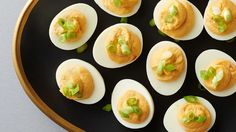 Elevate your deviled eggs with fun Japanese-inspired flavors. Spicy wasabi, flavorful chile garlic sauce and earthy soy will take your eggs from just edible to incredible!