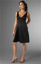 Maternity Bridesmaid Dress in Black