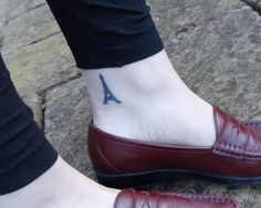 Eiffel tower ankle tattoo