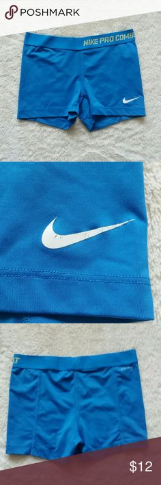 Nike Dri-fit Compression Shorts Worn a handful of times.in or wear to logo. No other flaws. Non smoking home. Nike Shorts