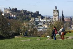 The city of Edinburgh. Scotland is cool and dreary. Lots of castles. Friendly people. Wouldn't want to live there.