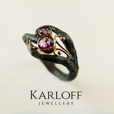 121S - silver and golden ring with tourmaline - product images  of