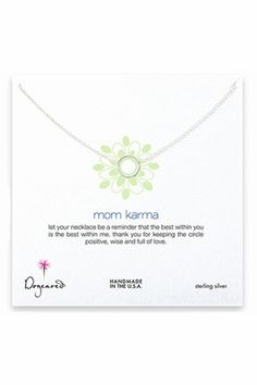 Dogeared Jewelry Mom Karma Sterling Silver Necklace