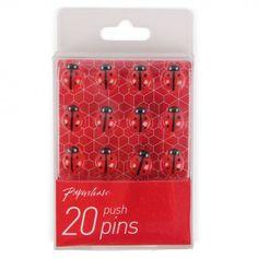 Ladybird push pins - pack of 20