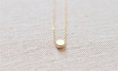 simple gold necklace.