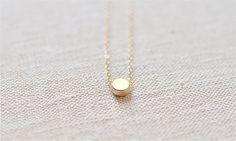 Round Dot Necklace (Matte Gold)