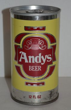 Andy's Beer Vintage Steel Beer Can Schell Brewing, New Ulm, Minnesota 12 fl.oz. #AndysBeer