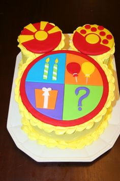 Mickey Mouse Clubhouse Toodles cake - going to attempt to make this for Tucker's birthday! :)