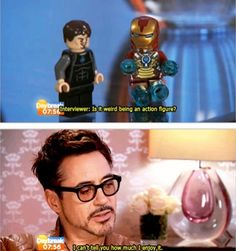 RDJ loves his action figure status.