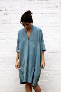 Losse overside trui, wordt gedragen als kleed