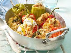 Unser beliebtes Rezept für Gefülltes Gemüse mit Mandelreis und mehr als 55.000 weitere kostenlose Rezepte auf LECKER.de.