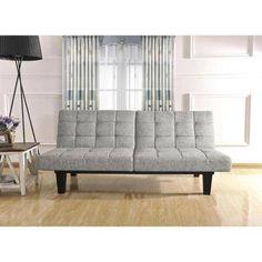 gray tweed memory foam futon wm