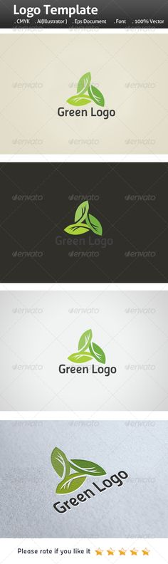 Tri Green Leaf Logo  #curve • Click here to download ! http://graphicriver.net/item/tri-green-leaf-logo/7123419?ref=pxcr
