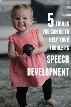5 things you can do to help your toddler's speech development #Toddlers #Development