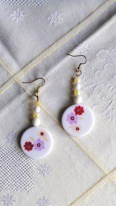 Spring flower earrings Flower Earrings, Drop Earrings, Spring Flowers, Jewelry, Jewlery, Jewerly, Schmuck, Drop Earring, Jewels