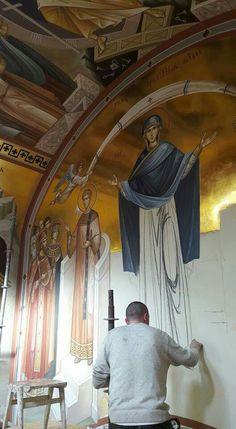 Religious Images, Religious Icons, Writing Icon, Jesus Art, Byzantine Icons, Art Thou, Catholic Art, Orthodox Icons, Angel Art