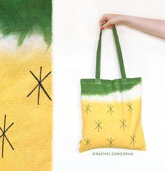 Canvas TOTE BAG Watermelon Bag Pineapple by RachelCorcoranStudio
