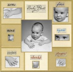 I am so going to do a page like this in my son's scrapbook! They grow up so fast :( #babyscrapbooks