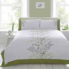 Debenhams Green 'Fernwood' flower bedding set- at Debenhams.com