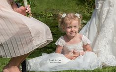 Ray Lockyer Yeovil Wedding Photographer - Our Flower Girl captured during the group photos at Haselbury Mill