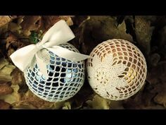 Crochet Christmas Decorations, Christmas Baubles, Xmas Decorations, Christmas Crafts, Thread Crochet, Craft Tutorials, Crafts For Kids, Crochet Patterns, Crafty