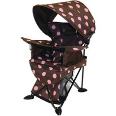 Kelsyus Go With Me Chair - we just bought this for K for camping, in place of her high chair, and it's amazing!!!!! I HIGHLY recommend it to anyone who travels/camps with kids!
