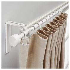 Curtain rod holder position can be adjusted, allowing curtains to be hung either close to the window or farther out.
