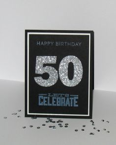50th Birthday Card  Any Age  Milestone Birthday by GlitterInkCards, $4.50