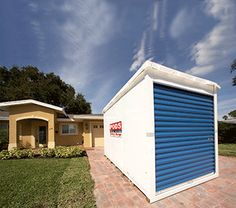 PODS | Moving & Storage, Solved | Mobile Home- they drop off containers, pick up and deliver to new home even long distance!
