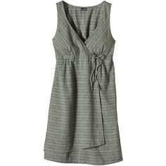 Patagonia Women's Island Hemp Crossover Dress (76 CAD) ❤ liked on Polyvore featuring dresses, empire waist dress, henley dress, cross over dress, surplice dress and day dresses