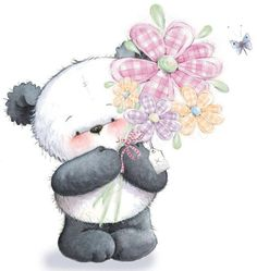 30 ideas for birthday happy illustration teddy bears Panda Love, Cute Panda, Panda Bear, Illustration Mignonne, Cute Illustration, Tatty Teddy, Cute Images, Cute Pictures, Image Panda