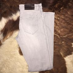 AllSaints Denim Gently used. In perfect condition. Grey Ashby denim by AllSaints. 98% Cotton 2% Elastane skinny jean All Saints Jeans Skinny