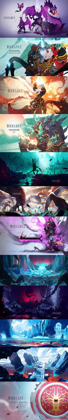【Duelyst】卡通风格 手游宣传设计...
