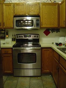 We replaced our standard microwave above our stove for a convection microwave hood. The Maytag one we purchased is awesome! We can bake, broil, microwave, combination cook, and have sensor cook! Over The Stove Microwave, Microwave Hood, Microwave Shelf, Oven Hood, Kitchen Pantry, Diy Kitchen, Kitchen Ideas, Kitchen Updates, Kitchen Designs