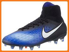 Nike Men s Magista Orden II Fg Black White Paramount Blue Soccer Cleat 9.5  Men 38380f3d4953b