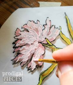 Painting Peony Flower on Glass | prodigalpieces.com #prodigalpieces Farmers Market Sign, Bar Keepers Friend, Peony Painting, Vintage Botanical Prints, Kitchen Canisters, Peony Flower, Spring Flowers, Diy Tutorial, Round Glass