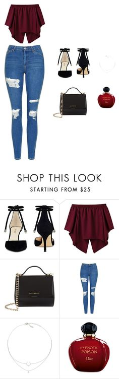 """""""Untitled #13"""" by arminaa7 ❤ liked on Polyvore featuring Nine West, Givenchy, Topshop and Christian Dior"""