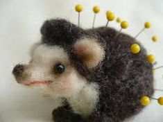 Image result for dry felted pin cushion