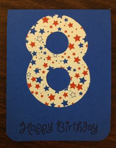 10150 Kids Birthday Card Stampin' Up (Vogue Verses)