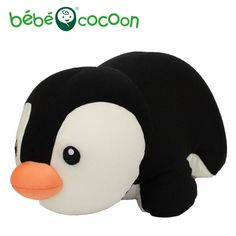 Bebecocoon Convertible U-shaped Neck Pillow Kawaii Penguin Animal Stuffed Plush Toy Multifunctional Travel Portable Soft Pillow