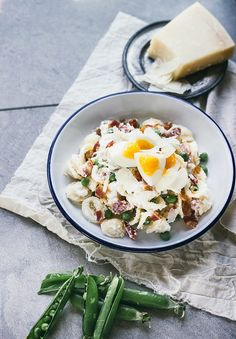 Orecchiette Carbonara With Hard-Boiled Eggs