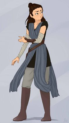 Rey's new outfit is to die for I just had to draw it
